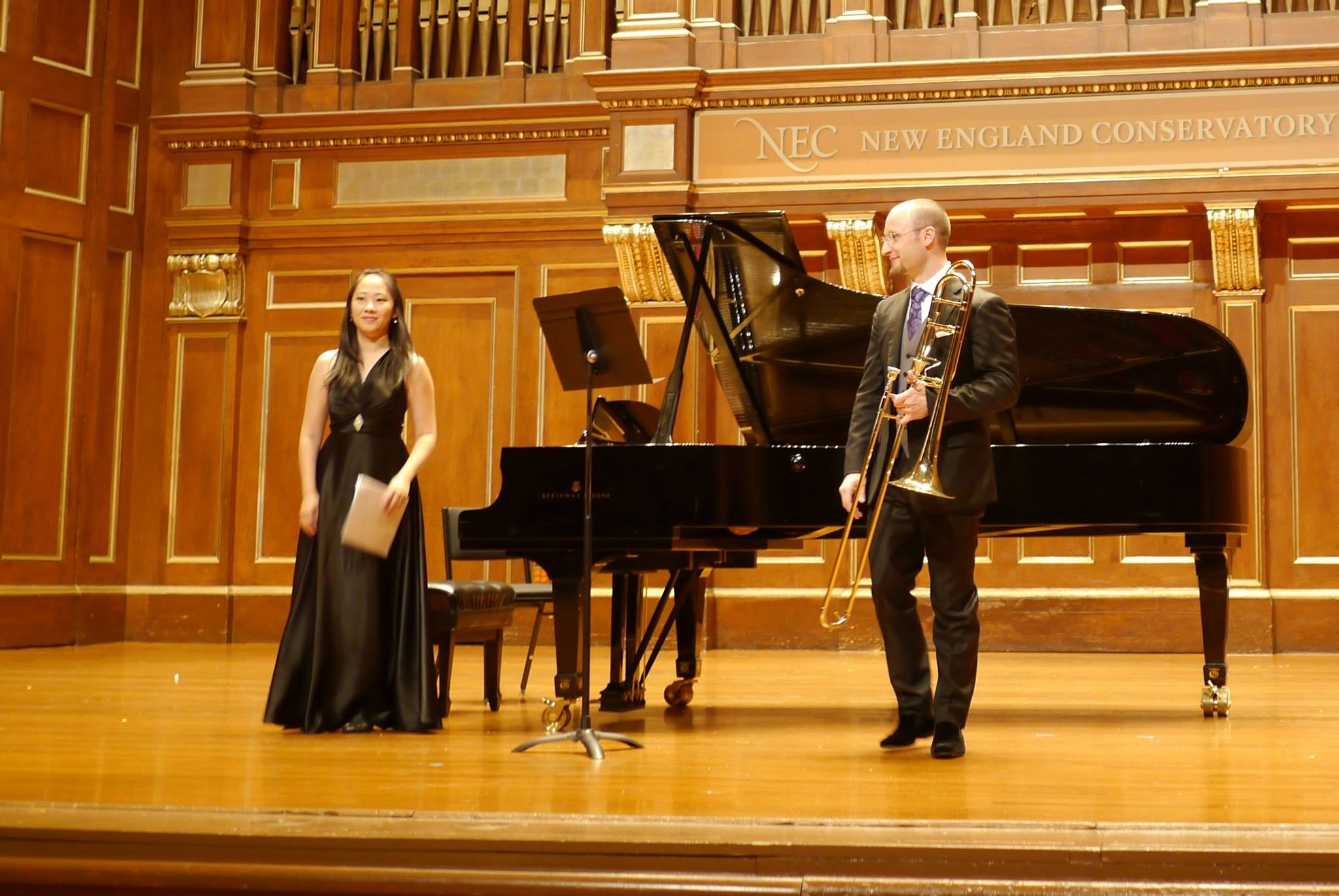 Recital with Toby Oft at Jordan Hall of New England Conservatory, 2013