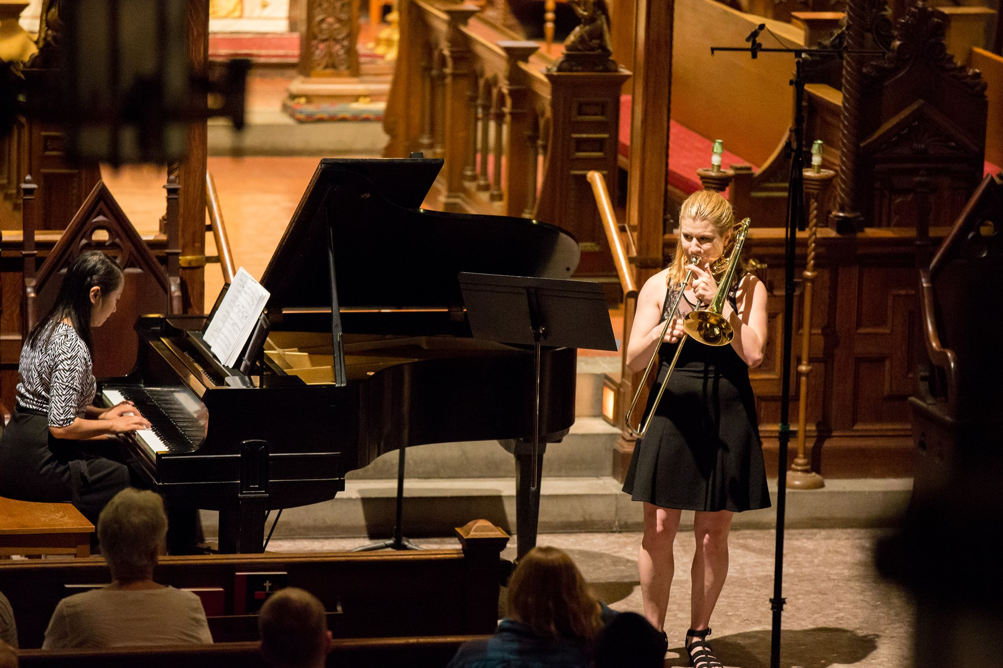 Performance with Brittany Lasch at Tanglewood, 2014