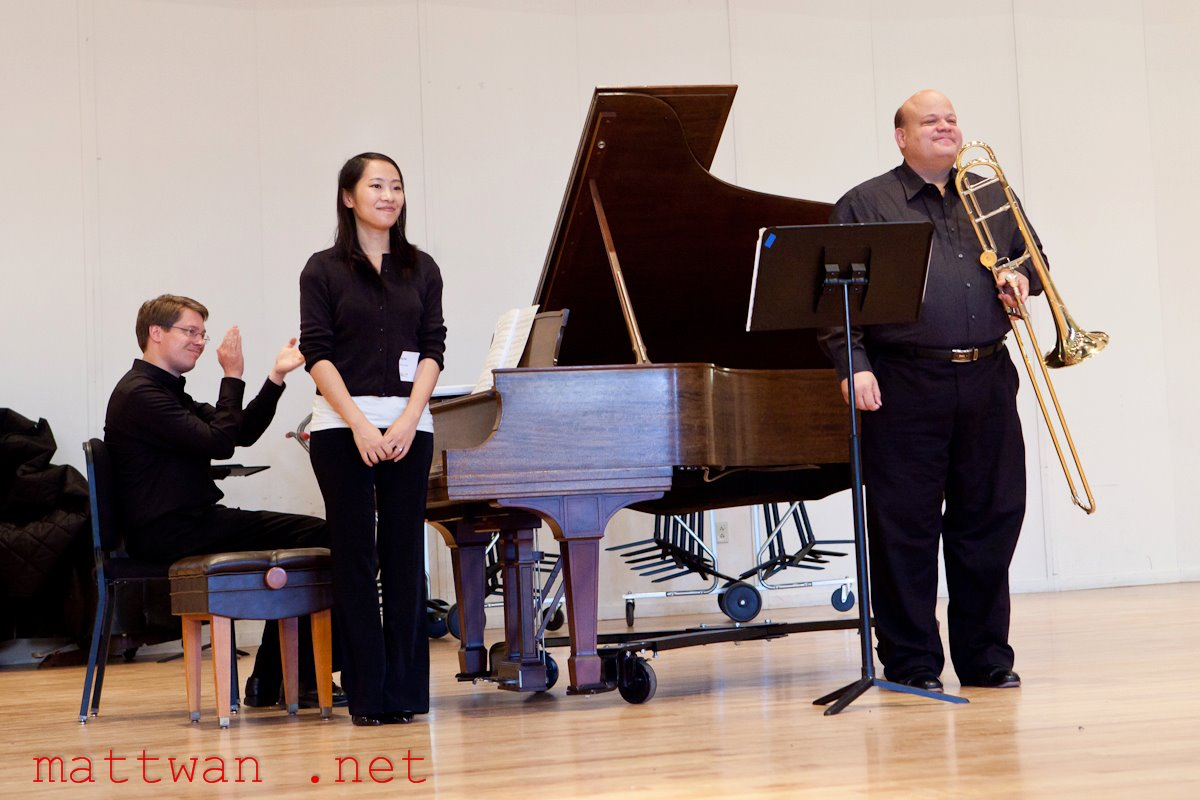 Performance with Professor Don Lucas, 2011